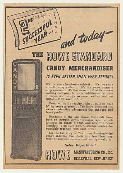 Rowe Standard Candy Merchandiser Machine (1940)