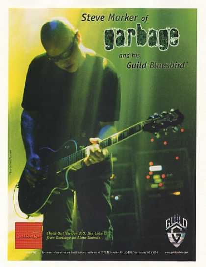 98 Garbage Steve Marker Guild Bluesbird Guitar Photo