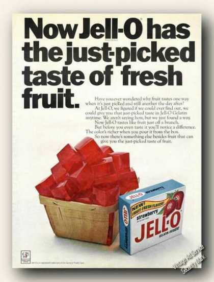 Jell-o Just Picked Fruit Taste (1968)