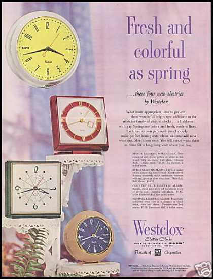 Westclox Electric Clocks Vintage Photo (1954)