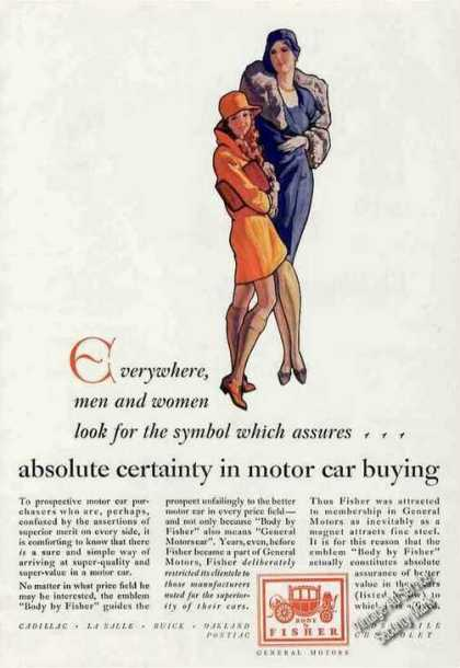 Absolute Certainty In Motor Cars Body By Fisher (1929)