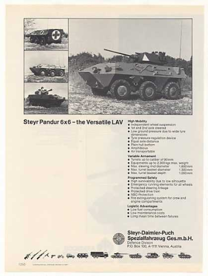Steyr Pandur 6x6 LAV Amphibious Armored Vehicle (1987)