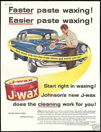 Chevrolet Car Johnson's J Wax Vintage (1957)