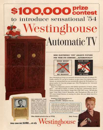 Westinghouse Electric Corporation's Television – $100,000 prize contest to introduce sensational '54 Westinghouse Automatic TV (1953)
