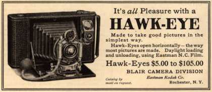 Kodak's Hawk-Eye camera – It's all Pleasure with a Hawk-Eye (1908)