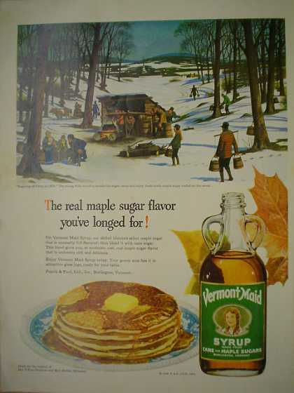 Vermont Maid Syrup Real Maple Sugar (1950)