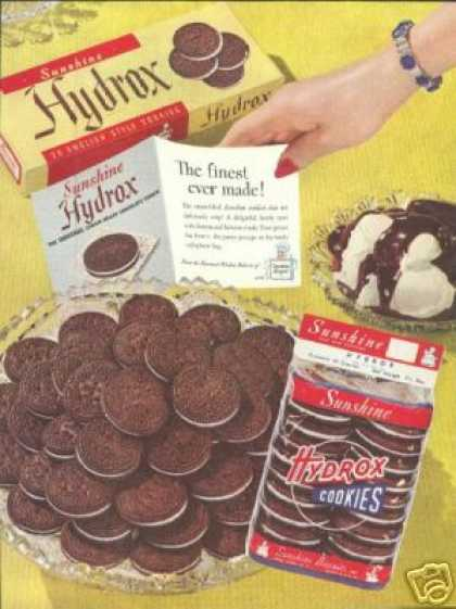 Sunshine Biscuits Inc Vintage Hydrox Cookie (1949)