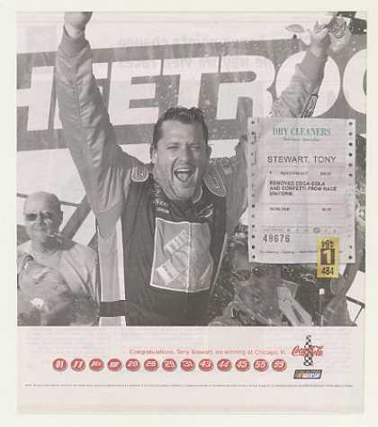 NASCAR Tony Stewart Chicago Win Coke Coca-Cola (2007)