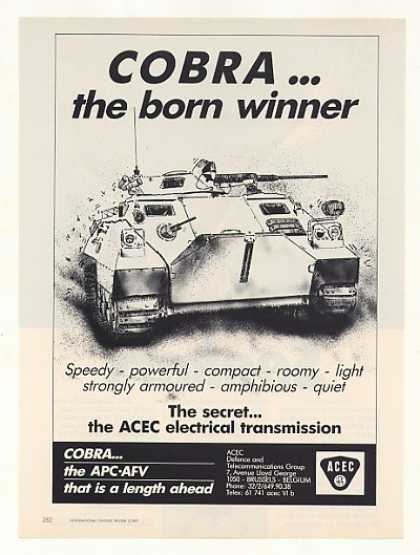 ACEC Cobra APC AFV Armoured Amphibious Vehicle (1987)