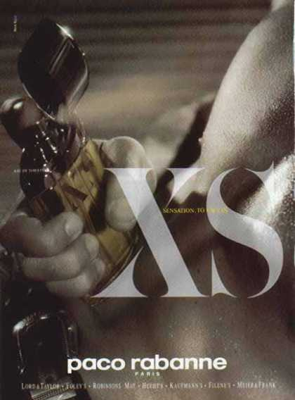 Paco Rabanne Cologne – XS Sensation. To Excess (1994)