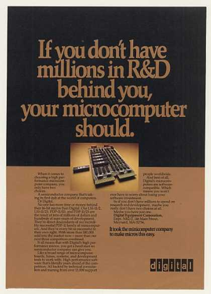 Digital LSI-11 Microcomputer Chips Board (1980)