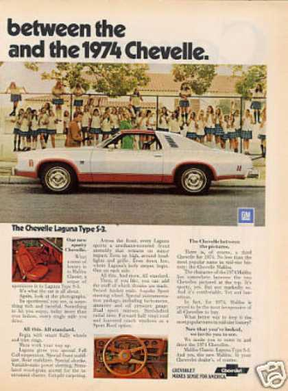 Chevrolet Chevelle Cars Ad 2 Page (1974)