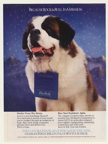 '97 St Bernard Dean Markley Blue Steel Strings Photo (1997)