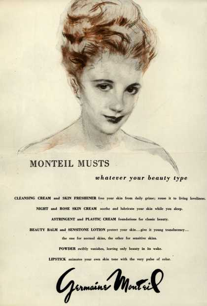 Germaine Monteil's Various – Monteil Musts whatever your beauty type (1946)
