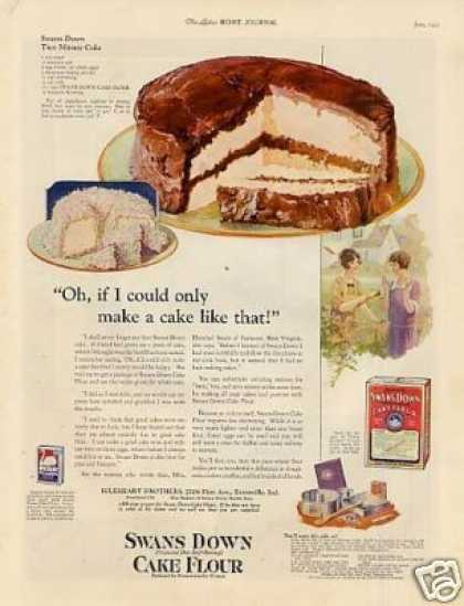 Swans Down Cake Flour Color (1925)