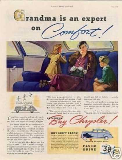 "Chrysler Car Ad ""Grandma Is An... (1940)"
