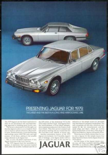 Silver Jaguar XJ Sedan S Type Vintage Photo Car (1979)