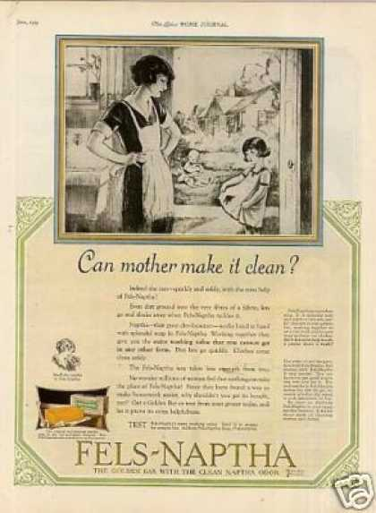 "Fels-naptha Soap Ad ""Can Mother Make It... (1925)"