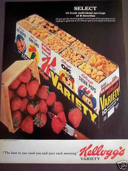 Kellogg's Cereal Variety Pack & Strawberries (1963)