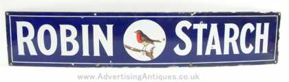 Robin Starch Enamel Sign