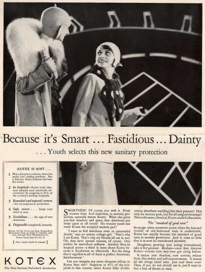 Kotex Company's Sanitary Napkins – Because it's Smart... Fastidious... Dainty (1929)