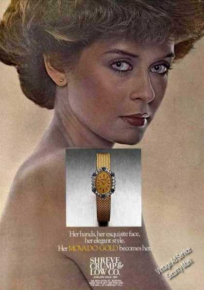 Her Movado Gold Becomes Her Shreve Crump & Low (1978)
