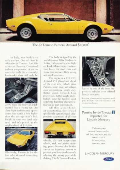 Ford De Tomaso Pantera Rare (1972)