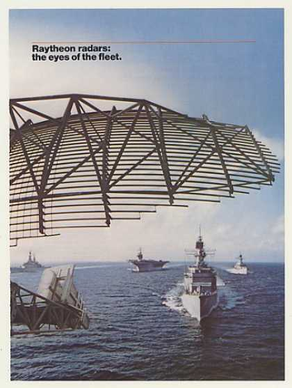 Raytheon Military Ship Radar 3-Page (1985)