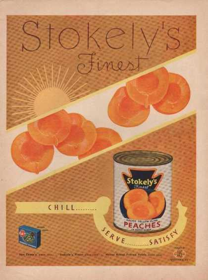 Stokelys Halves Yellow Cling Peaches (1949)