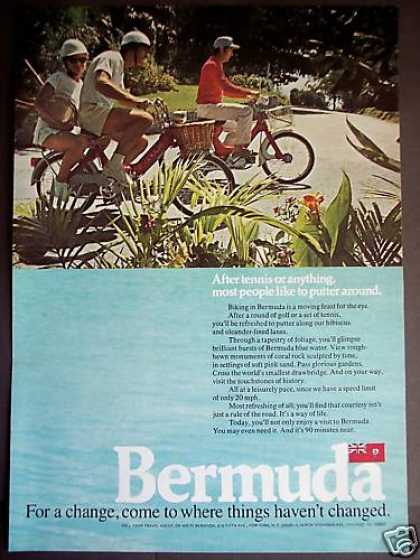 Motor Biking In Bermuda Vacation Travel Photo (1971)