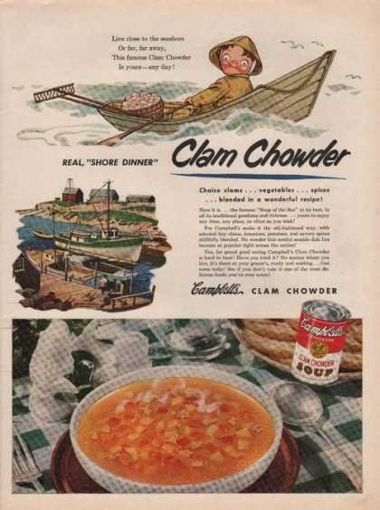 Campbells Clam Chowder Soup (1951)