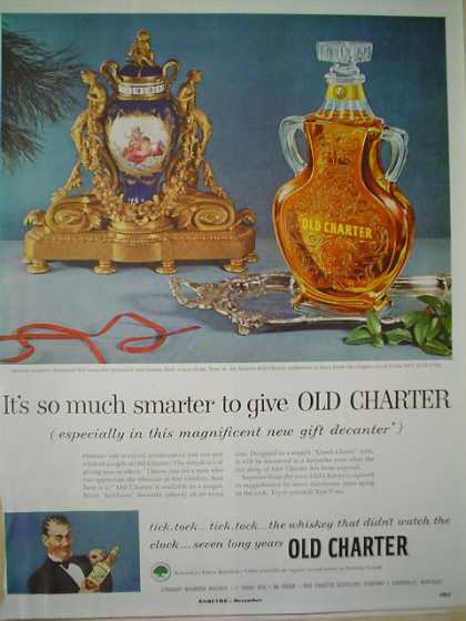 Old Charter Straight Bourbon Whiskey Gift Decanter (1953)