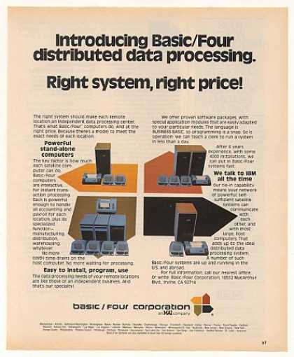 Basic/Four Computer Distributed Data Processing (1977)