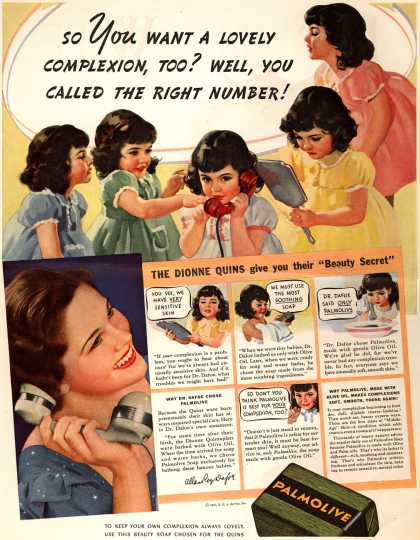 Palmolive Company's Palmolive Soap – So You Want A Lovely Complexion, Too? Well, You Called The Right Number (1937)