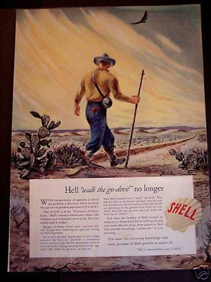 Shell Gasoline Motor Oil Art (1942)