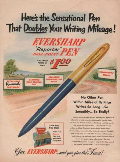 Eversharp Reporter Ball Point Pen (1950)