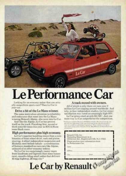 Le Performance Car By Renault Dune Buggys Car (1979)
