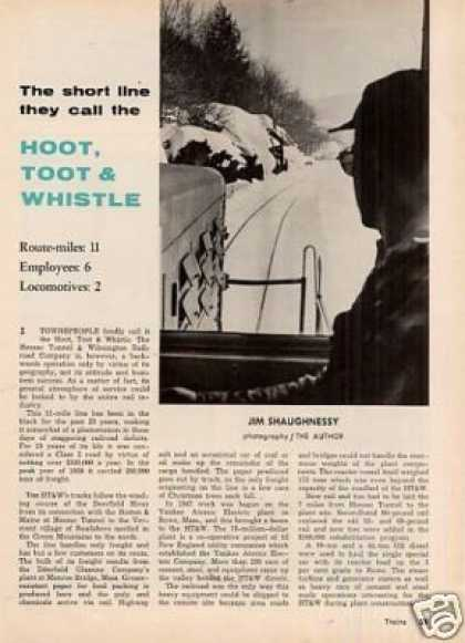 """Hoot, Toot & Whistle"" Article/ht&w Rr (1962)"
