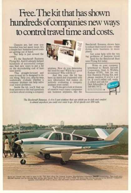 Beechcraft Bonanza Airplane Flying Kit Offer (1979)