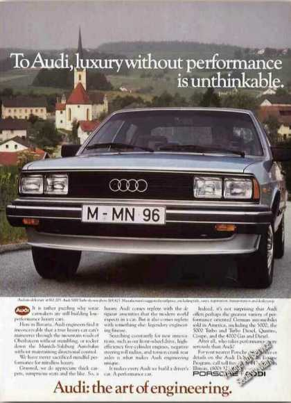 "Audi 5000 ""Luxury W/o Performance Unthinkable"" (1983)"
