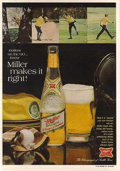 """Golfers on the GO...know Miller makes it right"" (1968)"