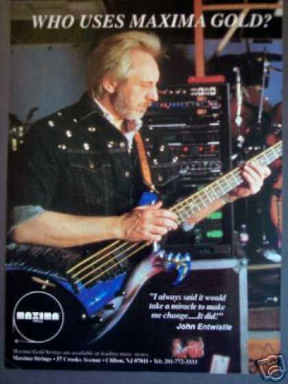 John Entwistle of the Who Bass Guitar Strings (1989)