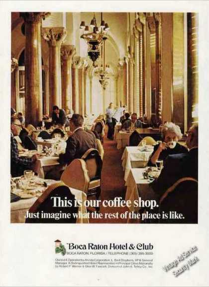 Boca Raton Hotel & Club Coffee Shop Photo (1972)