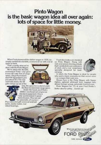 Ford Pinto Wagon Impressive Car (1973)