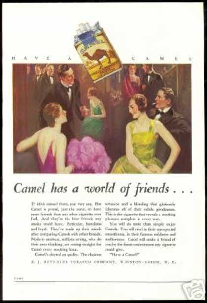 RJ Reynolds Tobacco Camel Cigarette Color Art (1927)