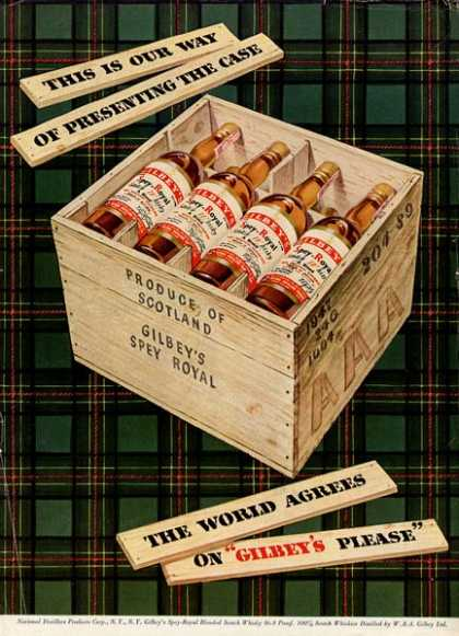 Gilbey's Scotch Whisky Bottle (1949)