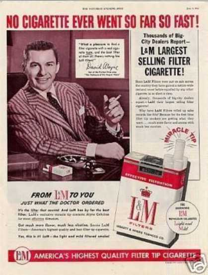L&m Cigarettes Ad David Wayne (1954)