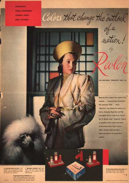 "Revlon Products Corp.'s Various – Colors That Change the ""Outlook"" of a Nation! by Revlon (1945)"