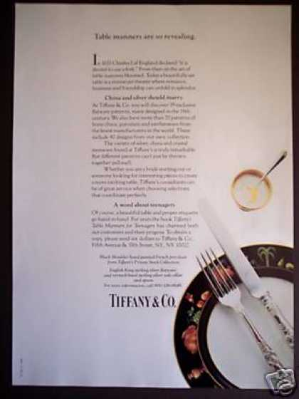 Tiffany & Co China and Silver Photo (1985)