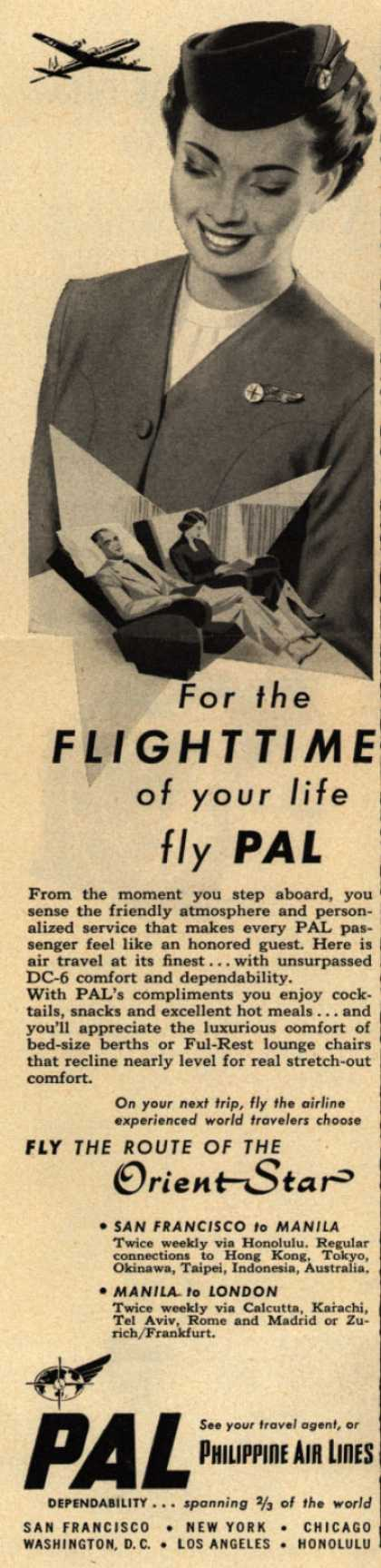 Philippine Air Line's Orient Star – For the Flighttime of your life, fly PAL (1952)